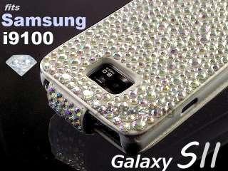 DIAMOND GEM BLING DIAMANTE FLIP CASE COVER for SAMSUNG GALAXY S2 II