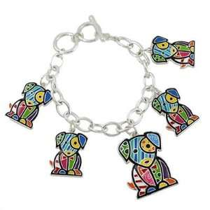 The Cutest Dog Lovers Multi Color Toggle Style Charm