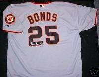 Barry Bonds Signed San Fran Giants Jersey Bonds 25 COA