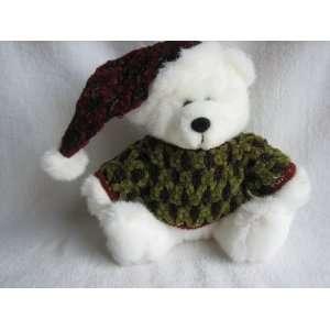 Dan Dee 7 1/2 Plush Christmas Teddy Bear with Green Sweater and