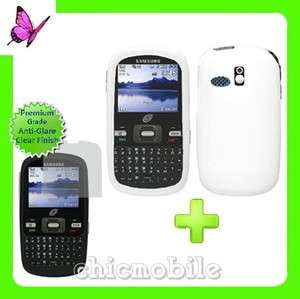 Screen + Straight Talk GEL Case Cover SAMSUNG R355C WHT