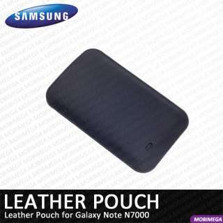 Samsung EFC 1E1LBECSTD Leather Pouch Case Cover Galaxy Note N7000 Navy