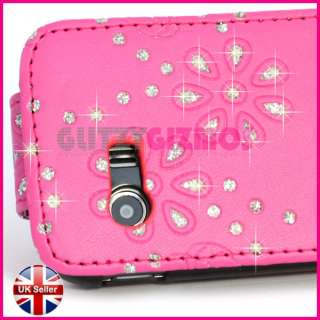 PINK LEATHER FLIP CASE COVER POUCH FOR SAMSUNG GALAXY Y S5360