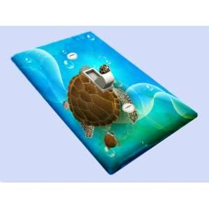 Sea Turtle Family Decorative Switchplate Cover