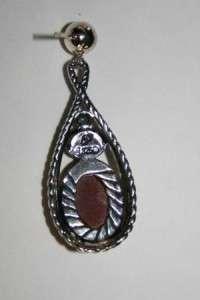 D52  CAROLYN POLLACK Sterling Haute Drop Earrings