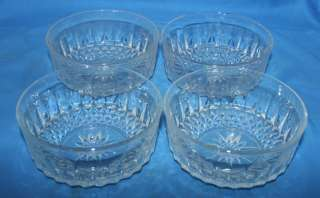Arcoroc Diamant Cut Glass Salad Bowls Set of four