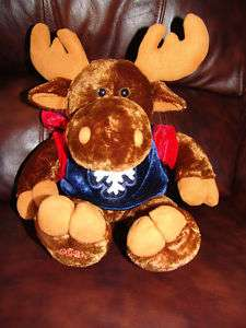 Dan Dee Collectors Choice Plush Holiday Moose Doll 15