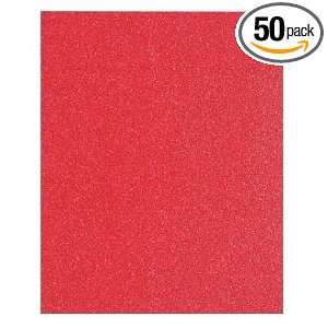 SS1R185 9 Inch by 11 Inch 180 Grit Red Sanding Sheet for Wood, 50 Pack