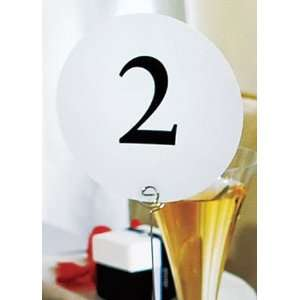 Davids Bridal Round Table Number Cards Packs of 12 Style