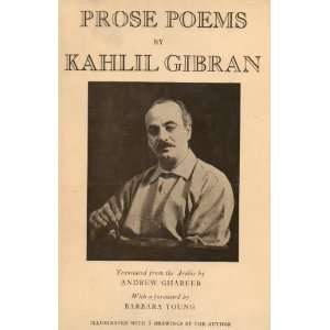 Prose Poems By Kahlil Gibran: Books