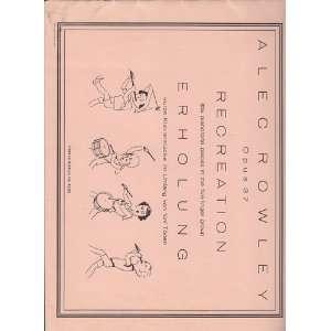 petits morceaux pour piano sur cinq notes, etc Alec Rowley Books