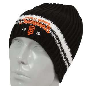 Twins 47 San Francisco Giants Black 2010 World Series Champions Knit