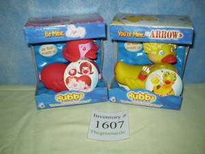 NEW Rubba Ducks Arrow Love Valentine Bath Toy Fast Ship