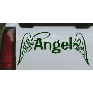 Dark Green 50in X 23.8in    Angel With Wings Christian Car Window Wall