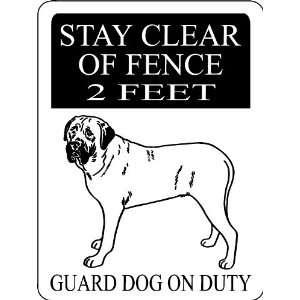 ENGLISH MASTIFF ALUMINUM GUARD DOG SIGN