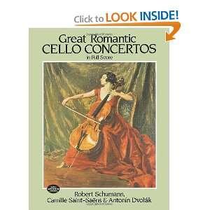 Schumann, Camille Saint Saens, Antonin Dvorak, Music Scores: Books