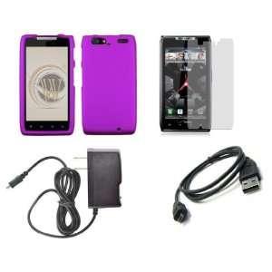 (Verizon) Premium Combo Pack   Purple Shield Hard Case Cover + ATOM