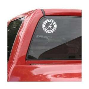 Alabama Crimson Tide 8x8 White Logo Decal Sports