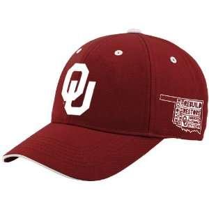NCAA Top Of The World Oklahoma Sooners Tornado Relief Adjustable Hat