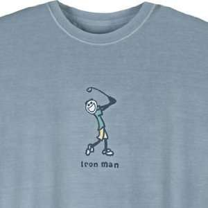 Life Is Good Inc. Mens Crusher Jake Iron Man Tee Sports