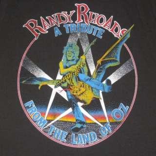 VTG RANDY RHOADS T SHIRT OZZY OSBOURNE tour QUIET RIOT