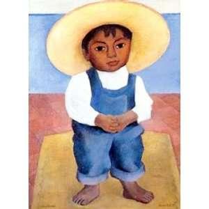 de Ignacio Sanchez Diego Rivera Hand Painted Ar