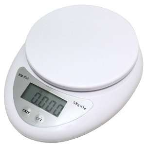 Multifunction Digital Kitchen Scale with Large LCD Display