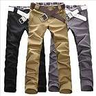 New Fashion Men Stylish Designed Straight Slim Trousers Casual Pants 3