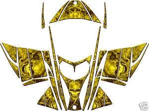 SKULL SLED WRAP for SKI DOO REV 03 07 mxz decal graphic yellow