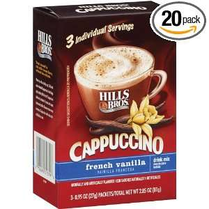 Hills Bros Coffee, French Vanilla, 2.85 Ounce (Pack of 20)