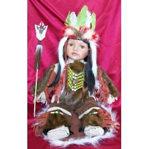 24 Native American Indian Porcelain Doll Istas Toys & Games