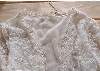 Fashion women lady girl Sweet Cute Lace Blouse Shirt Top