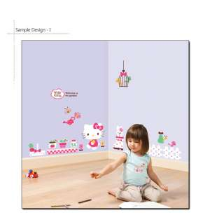 HELLO KITTY GARDEN   DIY Home Decor Art Removable Wall Sticker Kids