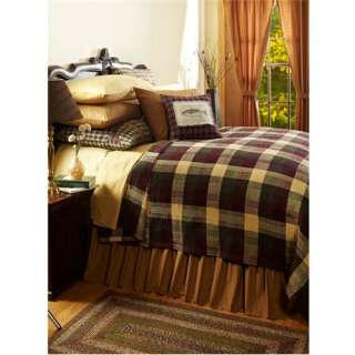 Truman Queen Woven Coverlet Primitive Country Bedding ~NEW FOR 2012