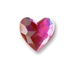 Pink Crystal Heart Shoe Doodles Charm