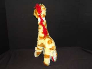 VINTAGE SUPERIOR TOY BLACK BOW TIE RED HAIR GIRAFFE PLUSH STUFFED