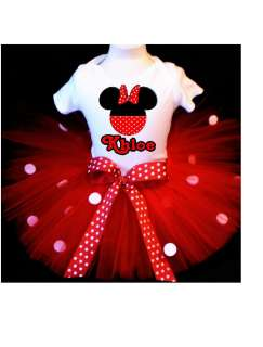 MOUSE TUTU OUTFIT RED POLKA DOT DRESS 1ST 2ND 3RD 4TH 5TH 6TH