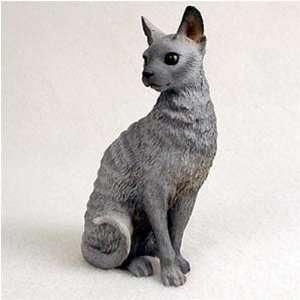Cornish Rex, Blue Original Cat Figurine (4in 5in) Kitchen