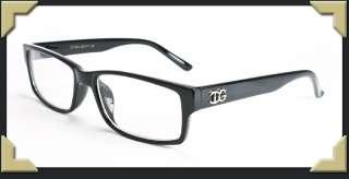 Black Clear Lens Glasses Men Women Unisex Classic Non Prescription