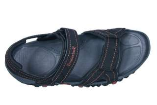 Timberland Mens Sandals New Granite Trailray Black Synthetic Leather