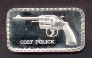 Police Colt Revolver Weapon Rare Doyle Coin Palace Gun DCP Art