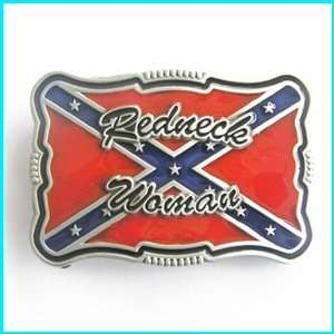 Redneck Woman Southern Pride Rebel Flag Belt Buckle WT 096