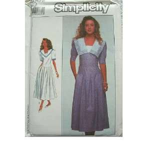 MISSES MISS PETITE DRESS SIZES 6 SIMPLICITY PATTERN 9092