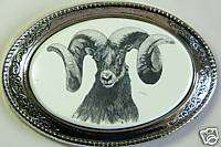 Buckle Barlow Scrimshaw Big Horn Sheep Ram Western 617414140941