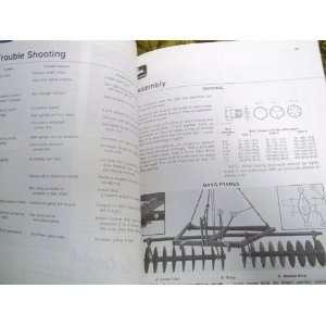 Deere 100 Integral Disk OMA35701 OEM OEM Ownerss Manual John Deere
