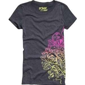 Fox Racing Flourish Crew Girls Short Sleeve Casual Wear Shirt w/ Free
