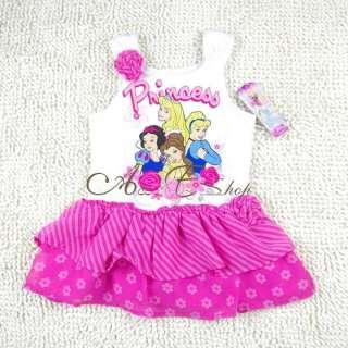 Size 2 3 4 5 Disney Princess Fairy Costume Dress Chiffon Tutu Skirt