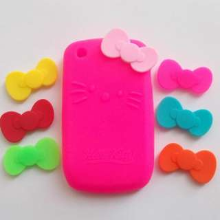 Colors Soft Silicone bowknot bows For Hello Kitty cover case