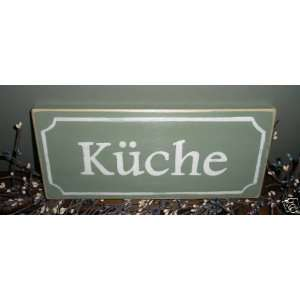 Chic Shabby KUCHE Kitchen in German Wood Sign CHOOSE COLOR Custom