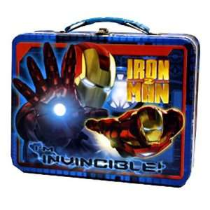 Iron Man 2 Movie Film Invincible Blue Tin Tote Lunchbox Lunch Box
